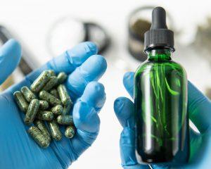 Huile et capsules de cannabis médical